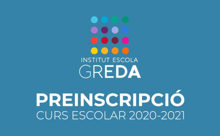 Preinscripció curs 2020-2021